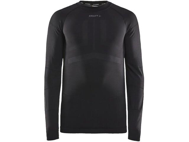 Craft Active Intensity Maglietta girocollo a maniche lunghe Uomo, black/asphalt